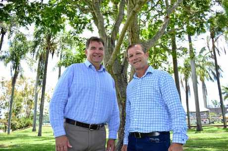 MEMBERS: Burnett MP Stephen Bennett and new Bundaberg MP David Batt .