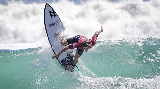 SO CLOSE: Reef Heazlewood finished second at the Quiksilver Pro trials.