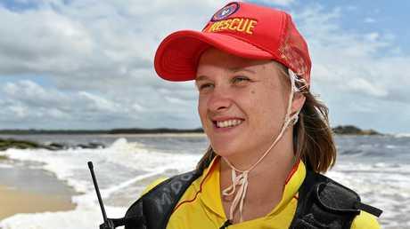 Major Incident Scenario training for lifesavers at Maroochydore River Mouth. Eliza Dreves.