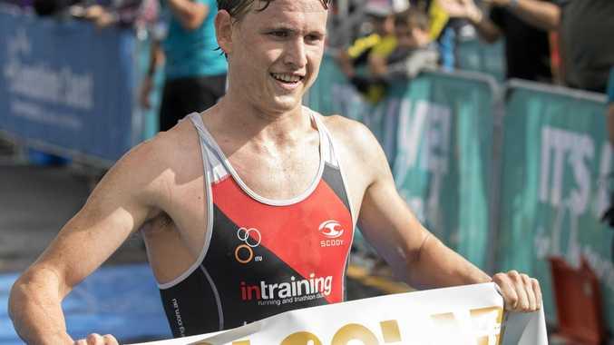 WINNER: Max Neumann won the open men's 2018 Mooloolaba Triathlon.