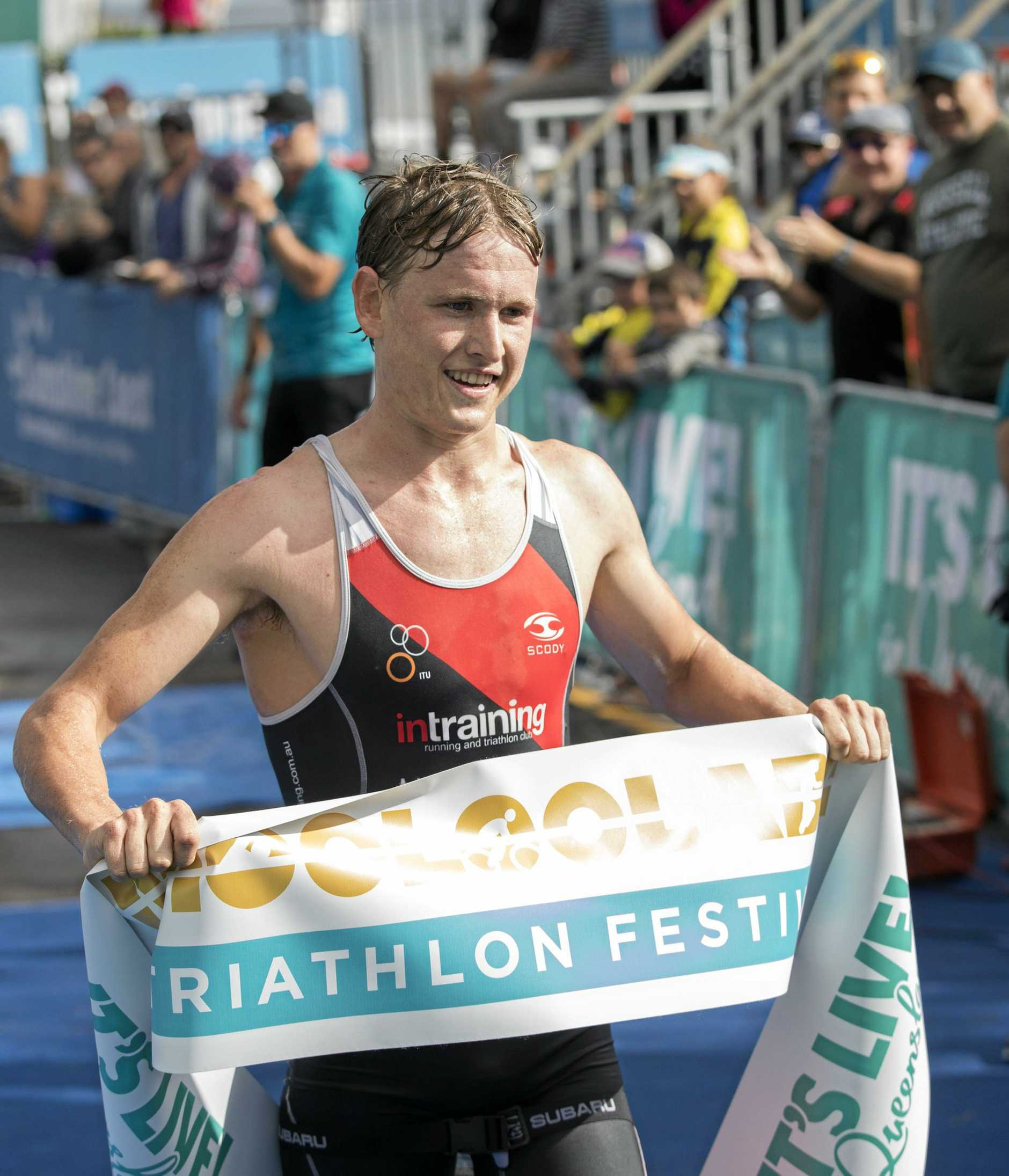 WINNER: Max Neumann won the open men's 2018 Mooloolaba Triathlon.