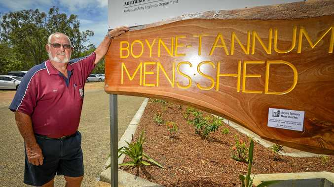 Rick Bischel is the president of the Boyne Island and Tannum Sands Men's Shed.