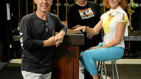 We Will Rock You director, Wayne Scott Kermond, choreographer, Katie Kermond and stage manager Joy Philippi.
