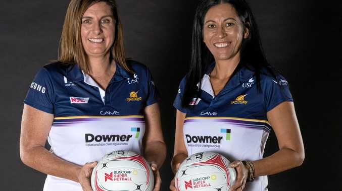 Noeline Taurua (right) and assistant coach Kylee Byrne have signed with the Sunshine Coast Lightning until the end of 2019.
