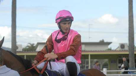 Grafton jockey Ben Looker finished runner-up in the Country Championships qualifier on board Ferniehirst during the Blues, Brews and Barbecues Yamba Cup raceday at the Clarence River Jockey Club.