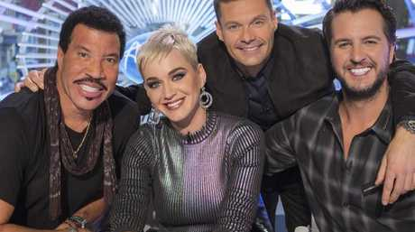 Katy Perry is about to be seen with Lionel Richie Ryan Seacrest and Luke Bryan on American Idol. Picture: AP