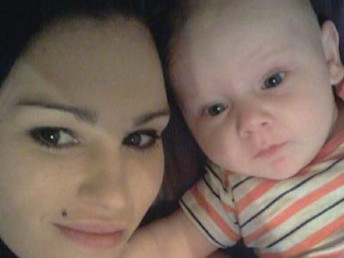 Michelle Dearing with her six-month old baby boy, Chayse.