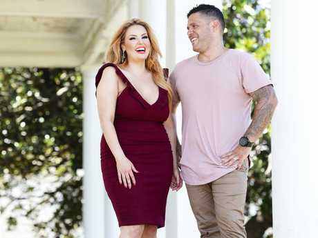 MAFS couple Sarah Roza and Telv Williams in Vaucluse. Picture: Justin Lloyd