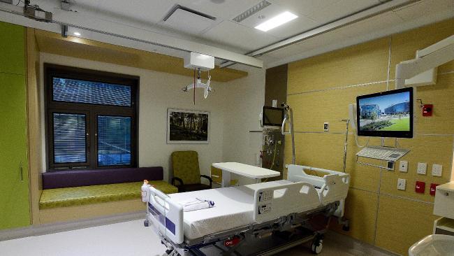 Telstra provides entertainment services to 11 SA hospitals. Picture: Bianca De Marchi