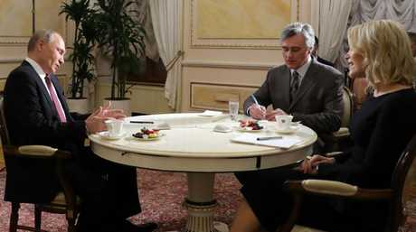 Vladimir Putin and Megyn Kelly spoke through a translator. Picture: AFP