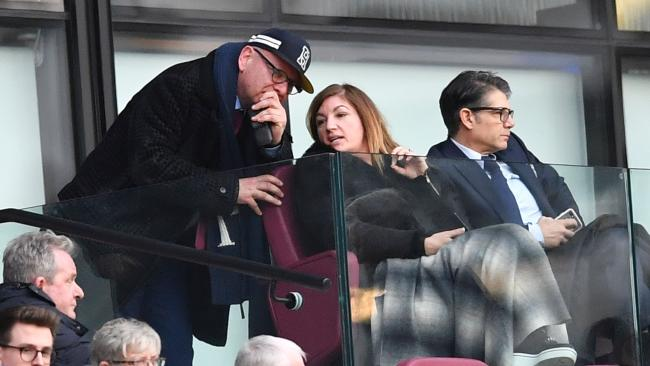 West Ham United's Vice-Chairman Karren Brady (C)