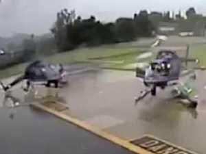 Choppers destroyed as blades collide
