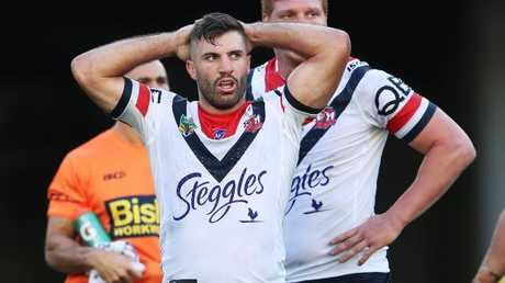 James Tedesco had a debut to forget for the Roosters. Picture: Phil Hillyard