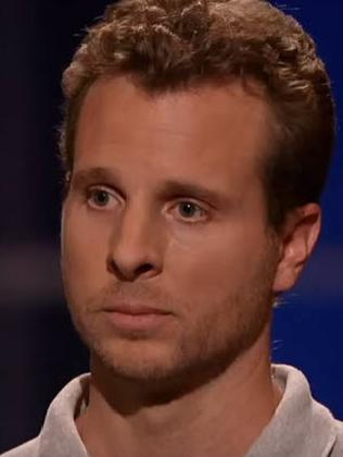 Jamie Siminoff was brutally rejected by Shark Tank judges five years ago when he went on the show pitching his 'smart doorbell' idea. Picture: Shark Tank/Youtube