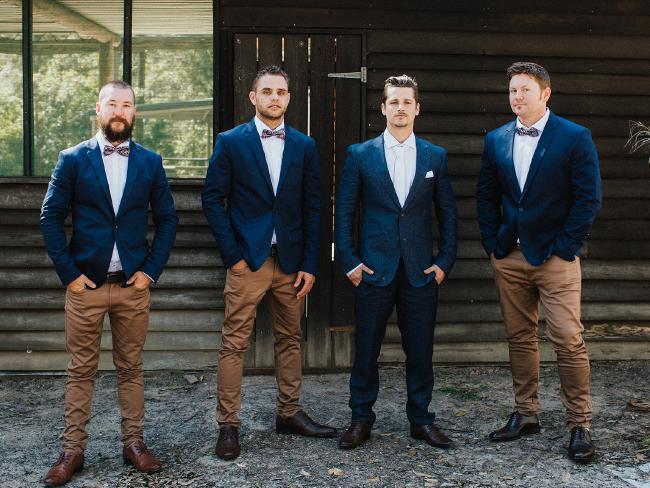 The groomsmen. Picture: Bulb Creative