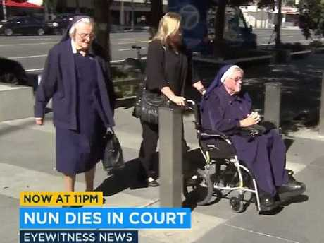 Sister Catherine Rose Holzman, left, and Sister Rita Callanan, right, have been in a legal fight. Picture: Fox 11