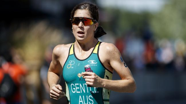 Ashleigh Gentle is a real Commonwealth Games medal hope. Picture: ITU Media/Wagner Araujo