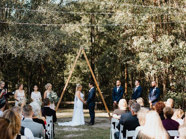 The couple were blessed with good weather for their big day. Picture: Bulb Creative