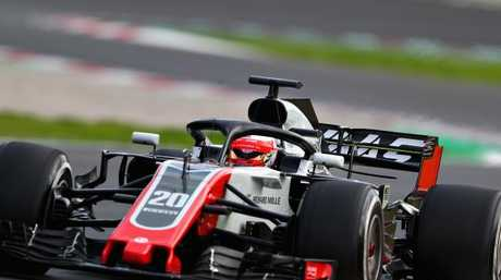 Kevin Magnussen in action for Haas.