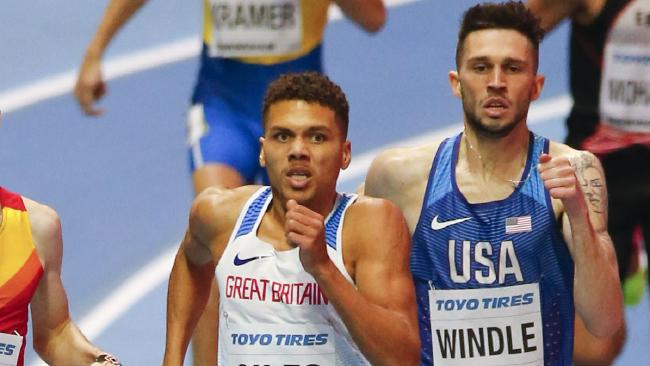 Britain's Elliot Giles in action at the World Athletics Indoor Championships in Birmingham.