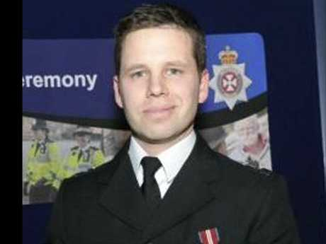 Detective Sergeant Nick Bailey came to the aid of Sergei Skripal and his daughter and was exposed to the rare nerve agent. He remains in a serious condition in hospital. Picture: AP