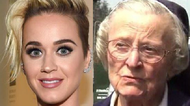 Katy Perry and Sister Catherine Rose Holzman were fighting over an LA convent. Picture: Fox
