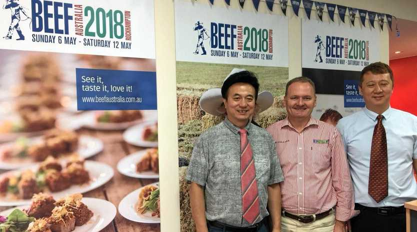 BEEF WEEK 2018: Michael Guo, Denis Cox and Steven Moon on a recent China trade delegation visit to Rockhampton to discuss tapping into Beef Week.