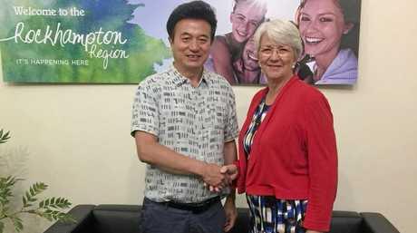 TRADE LINKS: Michael Guo and Rockhampton Region mayor Margaret Strelow during a recent China trade delegation visit to Rockhampton.