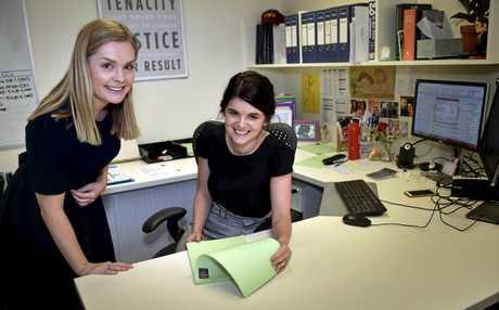 Maurice Blackburn Lawyer Sam Walker (left) with Toowoomba office leader Allison Grimley.