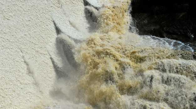 Wappa Dam was overflowing after heavy and prolonged rain hit the Sunshine Coast.