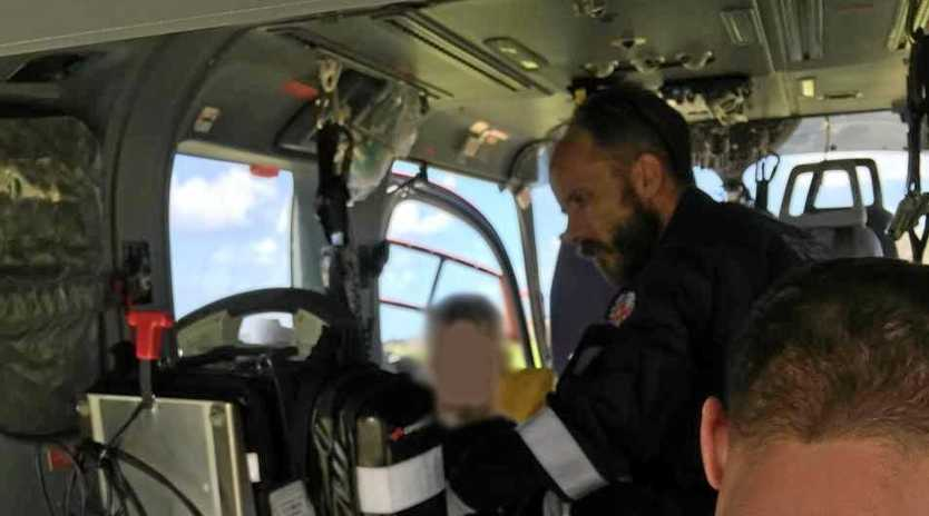AIRLIFTED: A young boy was flown to hospital after suffering a venomous sting on Fraser Island.