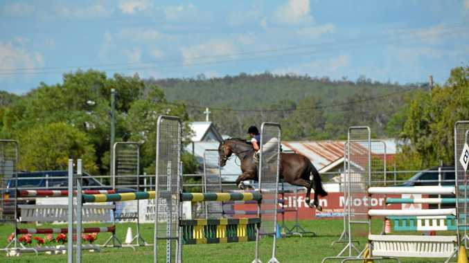 NOT JUST HORSING AROUND: Showjumping is set to draw a crowd at the Murgon Show this weekend.