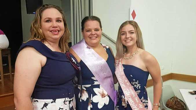 2018 Murgon Show Rural Ambassador Belinda Hiron, Miss Showgirl Winner Donna Robinson and Junior Miss Showgirl winner Tegan Hall.