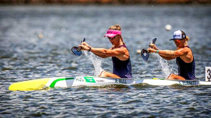 ON THE WATER: Alyce Burnett and Alyssa Bull.