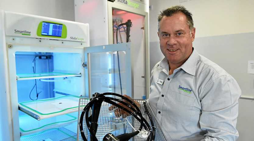 MEDICAL BOOST: Smartline Machinery boss Will Smart celebrates funding for development of new software.