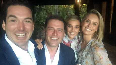 Photos from Karl Stefanovic's commitment ceremony on the weekend.