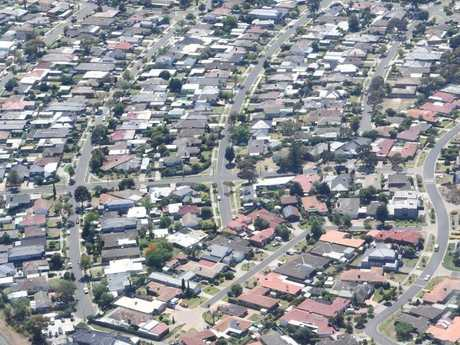 Houses in Melbourne.