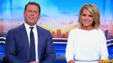 Karl Stefanovic and Today co-host Georgie Gardner, who joined him on the desk after Lisa Wilkinson's dramatic exit last year.