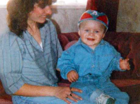 James Bulger with his mother Denise Fergus in 1992. Picture: Bonnier Publishing