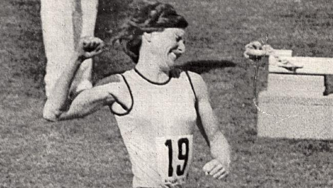 Raelene Boyle crosses the line first in Brisbane in 1982 to take victory in the 400m.