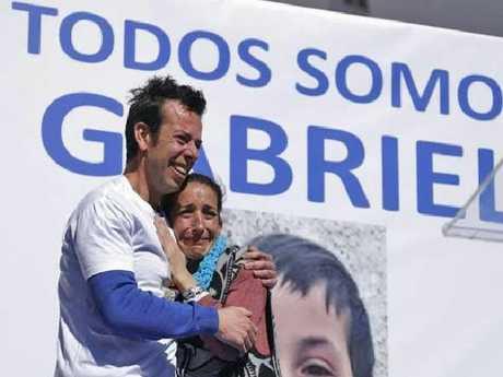Angel Cruz and patricia Ramirez, the parents of missing boy Gabriel Cruz. Picture: Twitter