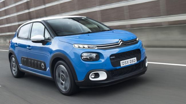 The new Citroen C3 is the first car to go on sale in Australia with a built-in 'dash cam'. Picture: Supplied.