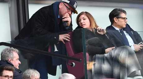West Ham United's Vice-Chairman Karren Brady (C) is seen in the crowd