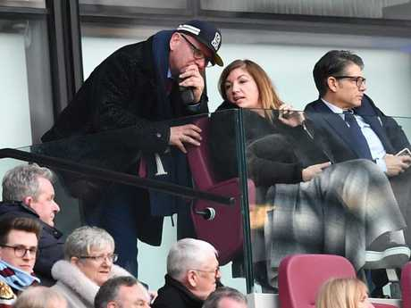 West Ham United's Vice-Chairman Karren Brady (C) is seen in the crowd