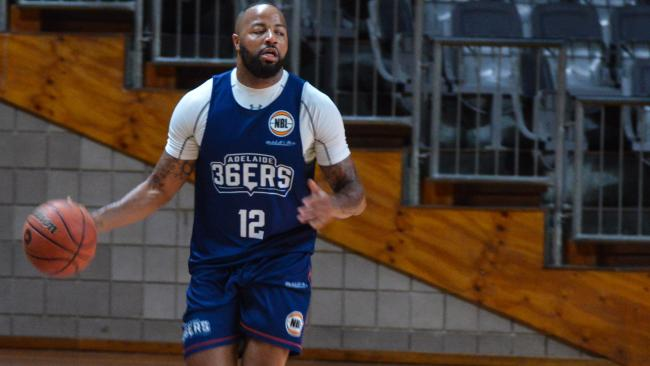 36ers' Shannon Shorter at training on Monday. Picture: BRENTON EDWARDS
