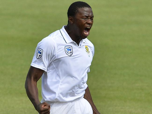 Kagiso Rabada gives Steve Smith an almighty send off.