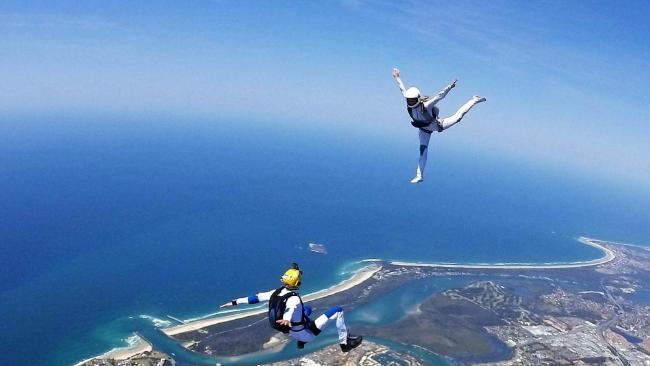 Gold Coast skydiving team, Running Hot, in action. Photo: Supplied.