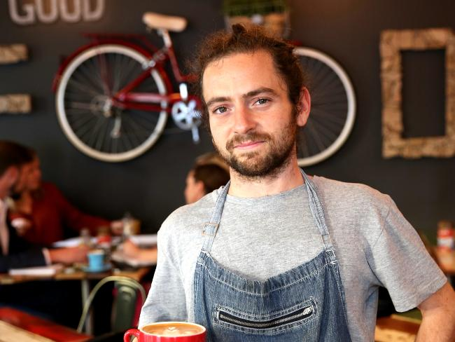 Gabriele Favaretto working at Cafe & Cucina in Surry Hills. The government last year cancelled the 457 visa. The hospitality industry is one of the biggest employers of 457 visas. Picture: Stephen Cooper