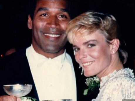 OJ Simpson and his bride Nicole Brown in happier times.