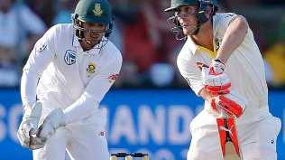 Australia batsman Mitchell Marsh is 39 not out at stumps.